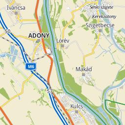 adony térkép Utcakereso.hu Adony   Deák Ferenc utca térkép adony térkép