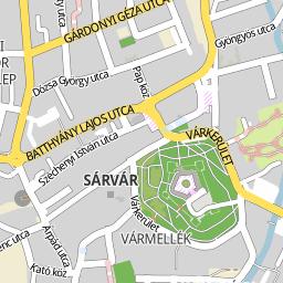 sárvár térkép Utcakereso.hu Sárvár térkép