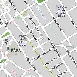 pápa térkép Utcakereso.hu Pápa térkép
