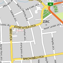 zirc térkép Utcakereso.hu Zirc térkép
