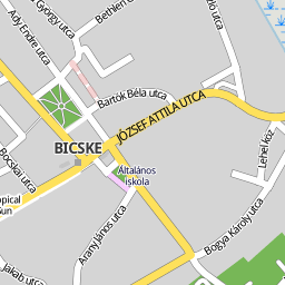 bicske térkép Utcakereso.hu Bicske térkép