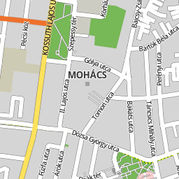 mohács térkép Utcakereso.hu Mohács térkép