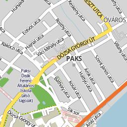 paks térkép Utcakereso.hu Paks térkép