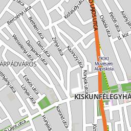 kiskunfélegyháza térkép Utcakereso.hu Kiskunfélegyháza térkép