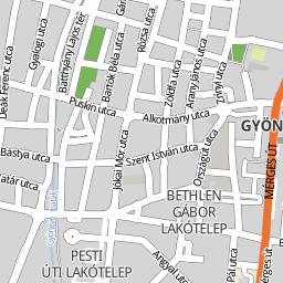 gyöngyös térkép Utcakereso.hu Gyöngyös térkép