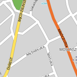 mosonszolnok térkép Utcakereso.hu Mosonszolnok   Rákóczi utca térkép