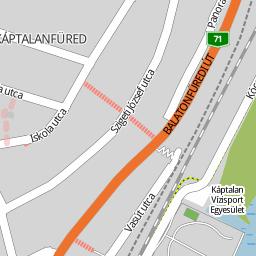 káptalanfüred térkép Utcakereso.hu Balatonalmádi, eladó és kiadó lakások,házak   Árnyas