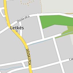 letkés térkép Utcakereso.hu Letkés   Dózsa György utca térkép
