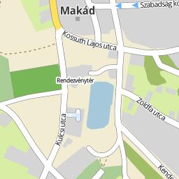 makád térkép Utcakereso.hu Makád   Táncsics utca térkép