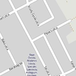 baja utca térkép Utcakereso.hu Baja, eladó és kiadó lakások,házak   Tigris utca térkép baja utca térkép