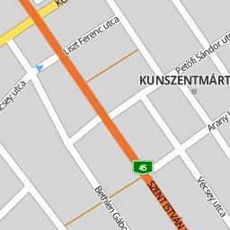 kunszentmárton térkép Utcakereso.hu Kunszentmárton   Dózsatelep térkép kunszentmárton térkép