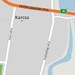 karcsa térkép Utcakereso.hu Karcsa   Dózsa György utca térkép